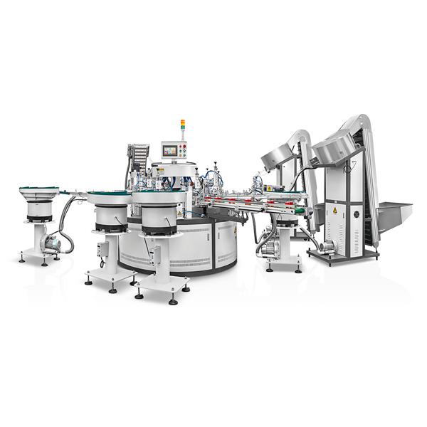 SXAE-108-C11 fully mechanical continuous high speed assembly machine for push pull caps